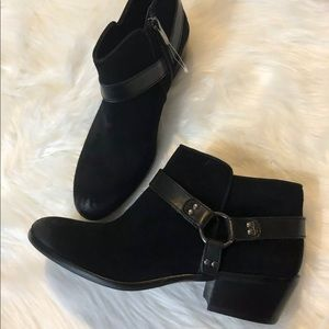 SAM EDELMAN BLACK SUEDE ANKLE BOOTS 7.5 BRAND NEW
